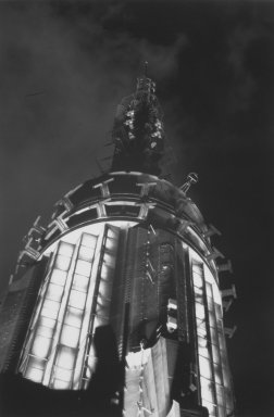 Helen K. Garber (American, born 1954). <em>Empire State Radio Tower</em>, 1997. Selenium-toned gelatin silver photograph, Sheet: 16 x 20 in. (40.6 x 50.8 cm). Brooklyn Museum, Gift of the Pikitch and Zwickler families in memory of Benjamin Pikitch, 2003.25. © artist or artist's estate (Photo: Brooklyn Museum, 2003.25.jpg)