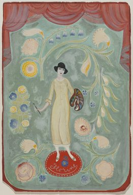 Adolfo Best Maugard (Mexican, 1891-1965). <em>Florine</em>, 1920. Gouache on paper, 21 7/8 x 14 13/16 in. (55.6 x 37.6 cm). Brooklyn Museum, Bequest of Richard J. Kempe, 2003.27.2 (Photo: Brooklyn Museum, 2003.27.2_PS9.jpg)