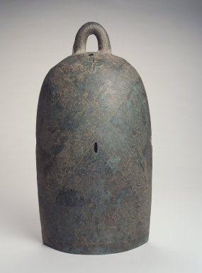 Dian. <em>Bell</em>, ca. 3rd century B.C.E. Bronze, 17 1/2 x 9 x 5 3/4 in. (44.5 x 22.9 x 14.6 cm). Brooklyn Museum, Anonymous gift, 2003.3.1. Creative Commons-BY (Photo: Brooklyn Museum, 2003.3.1_transp5892.jpg)