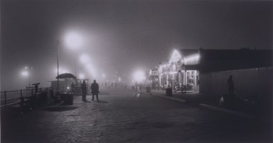 Helen K. Garber (American, born 1954). <em>Santa Monica Pier Fog No. 1</em>, 2002; printed 2003. Selenium-toned gelatin silver photograph, Sheet: 16 x 20 in. (40.6 x 50.8 cm). Brooklyn Museum, Gift of Susan Pikitch and Michael Giobbe in memory of Estelle Giobbe, 2003.43. © artist or artist's estate (Photo: Brooklyn Museum, 2003.43.jpg)