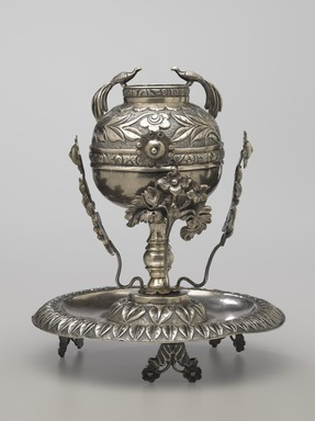 <em>Mate Cup on Saucer</em>, late 19th century. Silver, 7 x 6 3/16 x 6 3/16 in. (17.8 x 15.7 x 15.7 cm). Brooklyn Museum, Gift of Mary Ann Krotzer, 2003.50.1. Creative Commons-BY (Photo: Brooklyn Museum, 2003.50.1_PS6.jpg)