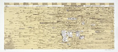 Ward Shelley (American, born 1950). <em>Williamsburg Timeline Drawing</em>, 2002. Lithograph, 58 3/4 x 29 in. (149.2 x 73.7 cm). Brooklyn Museum, Gift of Monroe Denton in honor of Annie Herron, gallerist, 2003.54. © artist or artist's estate (Photo: Brooklyn Museum, 2003.54_SL3.jpg)