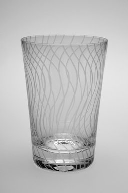 Sol LeWitt (American, 1928-2007). <em>Drinking Glass, One of a Set of Four</em>, 2002. Glass, 5 x 3 3/8 x 3 3/8 in. (12.7 x 8.6 x 8.6 cm). Brooklyn Museum, H. Randolph Lever Fund, 2003.56.1. Creative Commons-BY (Photo: Brooklyn Museum, 2003.56.1.jpg)