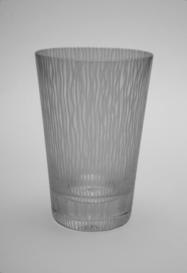 Sol LeWitt (American, 1928-2007). <em>Drinking Glass, One of a Set of Four</em>, 2002. Glass, 5 x 3 3/8 x 3 3/8 in. (12.7 x 8.6 x 8.6 cm). Brooklyn Museum, H. Randolph Lever Fund, 2003.56.2. Creative Commons-BY (Photo: Brooklyn Museum, 2003.56.2.jpg)