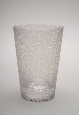 Sol LeWitt (American, 1928-2007). <em>Drinking Glass, One of a Set of Four</em>, 2002. Glass, 5 x 3 3/8 x 3 3/8 in. (12.7 x 8.6 x 8.6 cm). Brooklyn Museum, H. Randolph Lever Fund, 2003.56.3. Creative Commons-BY (Photo: Brooklyn Museum, 2003.56.3.jpg)