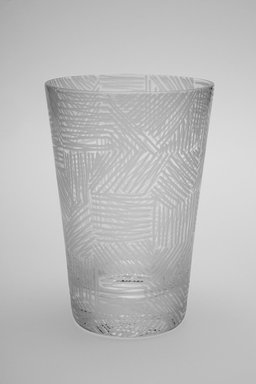 Sol LeWitt (American, 1928-2007). <em>Drinking Glass, One of a Set of Four</em>, 2002. Glass, 5 x 3 3/8 x 3 3/8 in. (12.7 x 8.6 x 8.6 cm). Brooklyn Museum, H. Randolph Lever Fund, 2003.56.4. Creative Commons-BY (Photo: Brooklyn Museum, 2003.56.4.jpg)