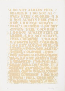 Glenn Ligon (American, born 1960). <em>[Untitled] (Cancellation Prints)</em>, 1992-2003. Hardground, softground, aquatint and spit bite etching with drypoint, Sheet: 28 1/4 x 20 in. (71.8 x 50.8 cm). Brooklyn Museum, Robert A. Levinson Fund and gift of Dr. and Mrs. Frank L. Babbott, by exchange, 2003.60a-b. © artist or artist's estate (Photo: , 2003.60b_PS9.jpg)