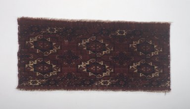 Turkmen (Tekke). <em>Shallow Wall Bag Face (Torba)</em>, early-mid 19th century. Wool on wool foundation, 15 1/2 x 33 1/4 in. (39.4 x 84.5 cm). Brooklyn Museum, Gift of Dr. Charles S. Grippi in memory of Professor Virgil H. Bird, 2003.65. Creative Commons-BY (Photo: Brooklyn Museum, 2003.65.jpg)