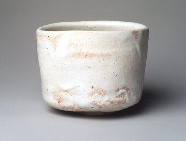 Tsujimura Shiro (Japanese, born 1947). <em>Tea Bowl</em>, 2000. Glazed stoneware, Shino style, 3 15/16 x 5 in. (10 x 12.7 cm). Brooklyn Museum, Gift of Koichi Yanagi, 2003.67.4. Creative Commons-BY (Photo: Brooklyn Museum, 2003.67.4_transp6312.jpg)