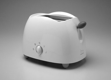 "Michael Graves (American, 1934-2015). <em>""Pop Art"" Toaster</em>, Designed 1999. ABS plastic, santoprene, metal, 8 5/8 x 12 1/2 x 8 7/8 in. (21.9 x 31.8 x 22.5 cm). Brooklyn Museum, Gift of Michael Graves & Associates, 2003.72.2. Creative Commons-BY (Photo: Brooklyn Museum, 2003.72.2.jpg)"