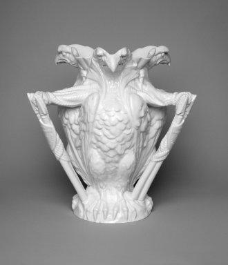 William T. Copeland & Sons. <em>Vase</em>, ca. 1875. Glazed earthenware, 9 1/8 x 8 5/8 x 8 5/8 in. (23.2 x 21.9 x 21.9 cm). Brooklyn Museum, H. Randolph Lever Fund, 2003.8. Creative Commons-BY (Photo: Brooklyn Museum, 2003.8.jpg)