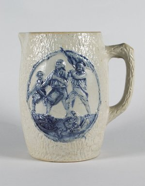 Attributed to Central New York Pottery (1890-1898). <em>Pitcher</em>, ca. 1895. Glazed stoneware, 8 1/2 x 7 7/8 x 6 1/4 in. (21.6 x 20 x 15.9 cm). Brooklyn Museum, Gift of Dr. and Mrs. Arthur Goldberg, 2003.85.4. Creative Commons-BY (Photo: Brooklyn Museum, 2003.85.4_PS5.jpg)