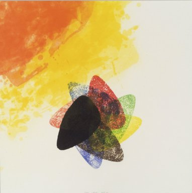 Richard Tuttle (American, born 1941). <em>Label 1</em>, 2002. Etching with aquatint, spit bite, sugarlift, drypoint and fabric colle, 16 x 16 in. (40.6 x 40.6 cm). Brooklyn Museum, Emily Winthrop Miles Fund, 2003.89.1. © artist or artist's estate (Photo: Brooklyn Museum, 2003.89.1.jpg)