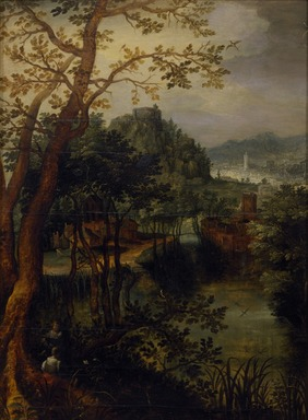 David Vinckboons (Dutch, 1576-ca. 1633). <em>Landscape</em>, ca. 1620. Oil on panel, 41 x 31 in. (104.1 x 78.7 cm). Brooklyn Museum, Gift of Katharine P. and Peter H. Darrow, 2004.101 (Photo: Brooklyn Museum, 2004.101_SL3.jpg)