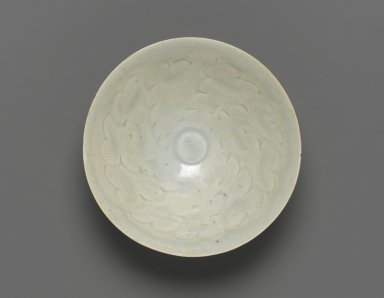 <em>Bowl</em>. Qingbai ware, porcelain with white glaze, 2 9/16 x 6 15/16 in. (6.5 x 17.6 cm). Brooklyn Museum, Gift of Dr. Alvin E. Friedman-Kien, 2004.112.19. Creative Commons-BY (Photo: Brooklyn Museum, 2004.112.19_top_PS1.jpg)