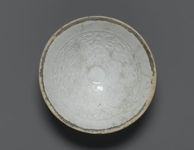 <em>Bowl</em>. Qingbai ware, porcelain with white glaze, 2 3/4 x 7 3/16 in. (7 x 18.3 cm). Brooklyn Museum, Gift of Dr. Alvin E. Friedman-Kien, 2004.112.20. Creative Commons-BY (Photo: Brooklyn Museum, 2004.112.20_top_PS1.jpg)