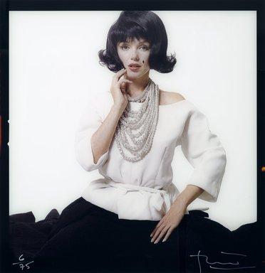 Bert Stern (American, 1929-2013). <em>Marilyn Monroe</em>, 1962. Photograph, Sheet: 49 3/4 x 49 3/4 in. (126.4 x 126.4 cm). Brooklyn Museum, Gift of Baldev Duggal, 2004.118. © artist or artist's estate (Photo: Brooklyn Museum, 2004.118_PS2.jpg)
