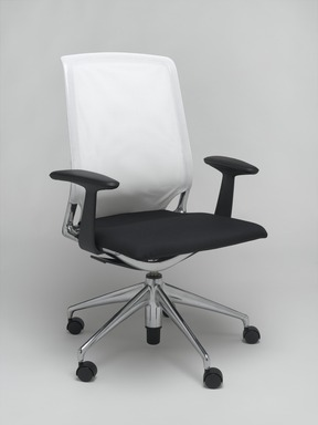 Alberto Meda (Italian, born 1945). <em>Meda Chair</em>, designed 1996. Aluminum, plastic, plastic mesh, plano covered foam seat, 38 1/4 x 27 3/8 x 20 1/4 in. (97.2 x 69.5 x 51.4 cm). Brooklyn Museum, Gift of Vitra, Inc., 2004.15. Creative Commons-BY (Photo: Brooklyn Museum, 2004.15_PS2.jpg)