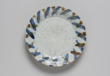 Kitaoji Rosanjin (Japanese, 1883-1959). <em>Dish</em>, early 20th century. Porcelain with underglaze blue and iron painting, 1 1/4 x 7 1/4 in. (3.2 x 18.4 cm). Brooklyn Museum, The Peggy N. and Roger G. Gerry Collection, 2004.28.146. Creative Commons-BY (Photo: Brooklyn Museum, 2004.28.146_PS11-1.jpg)