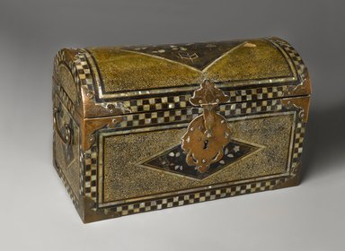 <em>Trunk</em>, late 16th century. Wood, ray skin, lacquer, mother-of-pearl, brass, 9 1/16 x 14 7/16 x 7 9/16 in. (23 x 36.7 x 19.2 cm). Brooklyn Museum, The Peggy N. and Roger G. Gerry Collection, 2004.28.192. Creative Commons-BY (Photo: Brooklyn Museum, 2004.28.192_PS4.jpg)