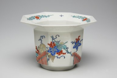 <em>Cup</em>, late 17th-early 18th century. Kakiemon, porcelain with overglaze enamel, 3 x 4 3/8 in. (7.6 x 11.1 cm). Brooklyn Museum, The Peggy N. and Roger G. Gerry Collection, 2004.28.218. Creative Commons-BY (Photo: Brooklyn Museum, 2004.28.218_view1_PS11.jpg)