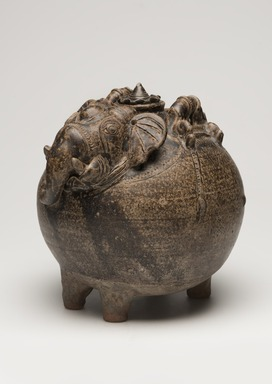 <em>Lidded Jar in the Form of an Elephant</em>, 12th century. Stoneware with brown glaze, 9 1/2 x 9 in. (24.1 x 22.9 cm). Brooklyn Museum, The Peggy N. and Roger G. Gerry Collection, 2004.28.222a-b. Creative Commons-BY (Photo: Brooklyn Museum, 2004.28.222a-b_threequarter_left_PS11.jpg.jpg)