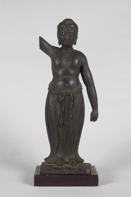 <em>Tanjobutsu (New-Born Shakyamuni Buddha)</em>, 12th century or later. Wood, 10 9/16 x 3 15/16 x 2 1/4 in. (26.8 x 10 x 5.7 cm). Brooklyn Museum, The Peggy N. and Roger G. Gerry Collection, 2004.28.241. Creative Commons-BY (Photo: Brooklyn Museum, 2004.28.241_PS5.jpg)