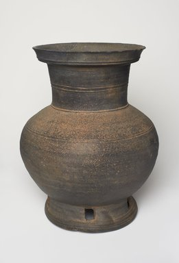 <em>Pedestal Jar</em>, 6th-7th century. Stoneware, 11 13/16 x 9 7/16 in. (30 x 23.9 cm). Brooklyn Museum, The Peggy N. and Roger G. Gerry Collection, 2004.28.50. Creative Commons-BY (Photo: , 2004.28.50_PS11.jpg)