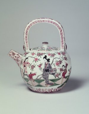 <em>Teapot and Cover</em>, 19th century. Porcelain with overglaze enamel painting, 6 1/2 x 4 3/4 in. (16.5 x 12 cm). Brooklyn Museum, The Peggy N. and Roger G. Gerry Collection, 2004.28.91a-b. Creative Commons-BY (Photo: Brooklyn Museum, 2004.28.91a-b.jpg)