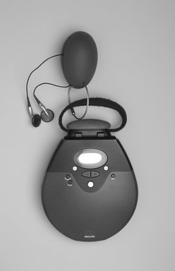 "Michael Graves (American, 1934-2015). <em>CD Player, ""Model MG9218/17,""</em> Designed 1999; Manufactured 2000-2001. ABS plastic, metal, (a) CD player: 1 5/8 x 5 x 6 3/8 in. (4.1 x 12.7 x 16.2 cm). Brooklyn Museum, Gift of Matthew Yokobosky, 2004.36a-d. Creative Commons-BY (Photo: Brooklyn Museum, 2004.36a-d.jpg)"