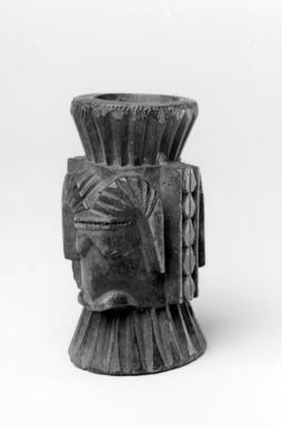 Yorùbá. <em>Shrine Object</em>, 19th century. Ivory or bone , 3 x 1 3/4 x 1 3/4 in. (7.6 x 4.4 x 4.4 cm). Brooklyn Museum, Gift of Blake Robinson, 2004.52.1. Creative Commons-BY (Photo: Brooklyn Museum, 2004.52.1_bw.jpg)