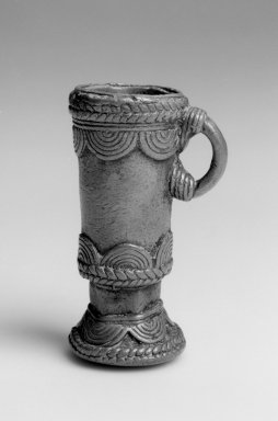 Dan. <em>Snuff Mortar</em>, 19th century. Copper alloy , 3 x 1 7/8 x 1 7/8 in. (7.6 x 4.8 x 4.8 cm). Brooklyn Museum, Gift of Blake Robinson, 2004.52.8. Creative Commons-BY (Photo: Brooklyn Museum, 2004.52.8_bw.jpg)