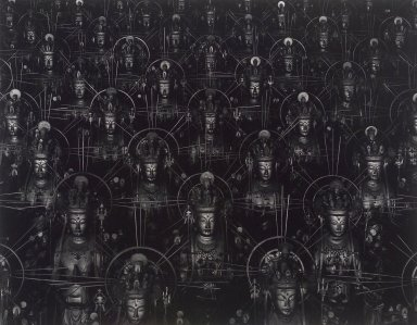 Hiroshi Sugimoto (Japanese, born 1948). <em>Hall of Thirty Three Bays (Sanjusangendo) 020</em>, 1995. Gelatin silver photograph, image: 16 1/2 x 21 in. (41.9 x 53.3 cm). Brooklyn Museum, Gift of Alexandra Munroe, 2004.55. © artist or artist's estate (Photo: Brooklyn Museum, 2004.55.jpg)