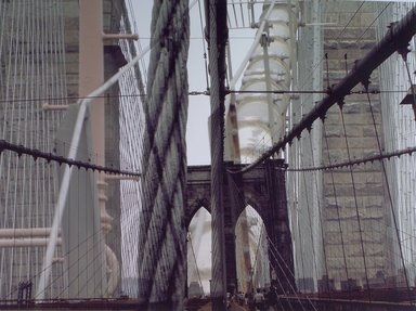 Joan Firestone (American, born 1930). <em>Transit Rigging</em>, 2004. Fusion print, Image: 36 x 48 1/8 in. (91.4 x 122.2 cm). Brooklyn Museum, Robert A. Levinson Fund, 2004.61. © artist or artist's estate (Photo: Brooklyn Museum, 2004.61.jpg)
