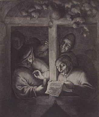 Adriaen van Ostade (Dutch, 1610-1685). <em>The Singers at the Window</em>, 1667. Etching, Sheet: 7 5/16 x 9 3/8 in. (18.6 x 23.8 cm). Brooklyn Museum, Hilda and Al Schein Collection, 2004.66 (Photo: Brooklyn Museum, 2004.66.jpg)