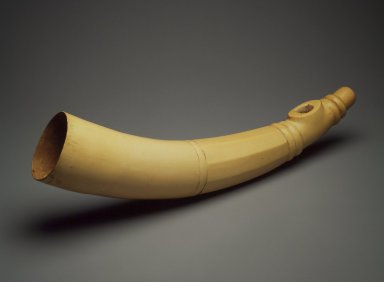 Mende. <em>Side-blown Horn</em>, 19th century. Elephant ivory, 26 1/4 x 7 1/4 x 3 3/4 in. (66.7 x 18.4 x 9.5 cm). Brooklyn Museum, Gift of Blake Robinson, 2004.76.5. Creative Commons-BY (Photo: Brooklyn Museum, 2004.76.5.jpg)