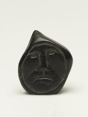 Inuit. <em>Miniature Male Head</em>, 1950-1980. Soapstone, 1 3/4 x 1 3/8 x 1 3/4 in. (4.4 x 3.5 x 4.4 cm). Brooklyn Museum, Hilda and Al Schein Collection, 2004.79.21. Creative Commons-BY (Photo: Brooklyn Museum, 2004.79.21_front_PS11-1.jpg)