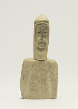 Cecilia N.. <em>Head and Torso of a Man</em>, 1950-1980. Bone, pigment, 5 x 2 1/8 x 1 3/8 in. (12.7 x 5.4 x 3.5 cm). Brooklyn Museum, Hilda and Al Schein Collection, 2004.79.38. Creative Commons-BY (Photo: Brooklyn Museum, 2004.79.38_front_PS11.jpg)