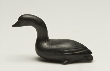 Inuit. <em>Loon</em>, 1950-1980. Soapstone, 2 x 1 3/8 x 3 3/4 in. (5.1 x 3.5 x 9.5 cm). Brooklyn Museum, Hilda and Al Schein Collection, 2004.79.3. Creative Commons-BY (Photo: Brooklyn Museum, 2004.79.3_side_left_PS11-1.jpg)