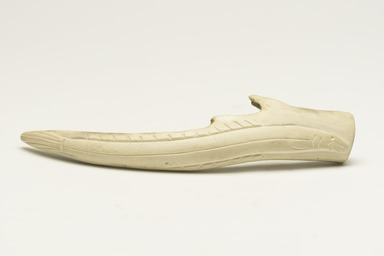 Bobby Qajuurtaq Tarkirk (Canadian, Inuit, 1934-2000). <em>Fish Form on an Antler</em>, 1950-1980. Antler, 3/4 x 6 3/4 x 1 5/8 in. (1.9 x 17.1 x 4.1 cm). Brooklyn Museum, Hilda and Al Schein Collection, 2004.79.51. Creative Commons-BY (Photo: Brooklyn Museum, 2004.79.51_overall_PS11-1.jpg)