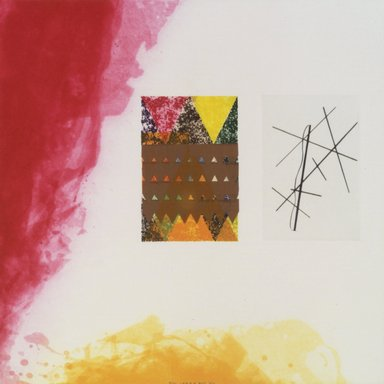 Richard Tuttle (American, born 1941). <em>Label 4</em>, 2002. Etching with aquatint, spit bite, sugarlift, drypoint and fabric colle, 16 x 16 in. (40.6 x 40.6 cm). Brooklyn Museum, Emily Winthrop Miles Fund, 2003.89.4. © artist or artist's estate (Photo: Brooklyn Museum, 2004.89.4.jpg)
