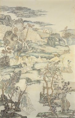 Yun-Fei Ji (born China, 1963). <em>The Empty City: Fragrant Creek</em>, 2003. Mineral pigments on xuan paper