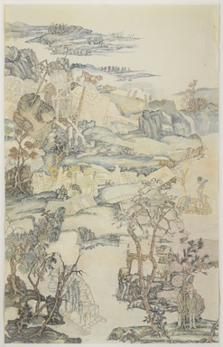 Yun-Fei Ji (born China, 1963). <em>The Empty City: Fragrant Creek</em>, 2003. Mineral pigments on xuan paper Use for wall label:  Watercolor on paper    , 37 1/2 x 59 1/4 in. (95.3 x 150.5 cm). Brooklyn Museum, Bequest of William K. Jacobs, Jr., by exchange, 2005.18. © artist or artist's estate (Photo: , 2005.18_PS9.jpg)