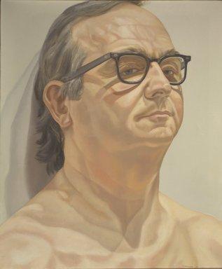 Philip Pearlstein (American, born 1924). <em>Portrait of George Klauber</em>, 1976. Oil on canvas Brooklyn Museum, Bequest of George Klauber, 2005.20.2. © artist or artist's estate (Photo: Brooklyn Museum, 2005.20.2.jpg)