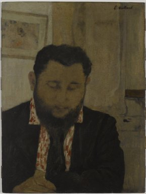 Édouard Vuillard (French, 1868-1940). <em>Portrait of Thadée Natanson</em>, 1897. Oil on cardboard mounted on panel, 20 5/8 x 15 1/2 in. (52.4 x 39.4 cm). Brooklyn Museum, Gift of William Kelly Simpson in honor of Nathan Todd Porter, Jr., 2005.23 (Photo: Brooklyn Museum, 2005.23_PS6.jpg)