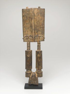 Fante. <em>Pair of Akuaba Figures</em>, early 20th century. Wood, 13 1/4 x 3 3/4 x 1 1/8 in. (33.7 x 9.5 x 2.9 cm). Brooklyn Museum, Gift of Marcia and Irwin Hersey, 2005.29.1. Creative Commons-BY (Photo: Brooklyn Museum, 2005.29.1_side1_PS1.jpg)