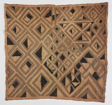 Kuba. <em>Prestige Raffia Panel</em>, 20th century. Raffia palm fiber, pigment, inks, 22 x 22 1/2 in. (55.9 x 57.2 cm). Brooklyn Museum, Transferred from The Metropolitan Museum of Art, The William B. Goldstein Collection, 2005.30.14. Creative Commons-BY (Photo: , 2005.30.14_PS9.jpg)