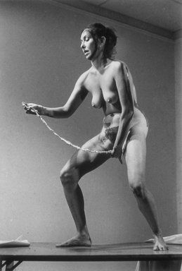 Carolee Schneemann (American, 1939-2019). <em>Interior Scroll</em>, 1975/2004. Photograph, 40 x 60 in. (101.6 x 152.4 cm). Brooklyn Museum, Gift of Marc Routh by arrangement with the Remy-Toledo Gallery, 2005.35.1. © artist or artist's estate (Photo: Courtesy of the artist and P.P.O.W Gallery, New York, NY, 2005.35.1_PPOW_Gallery_Schneemann_11.jpg)