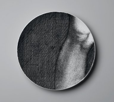 Piero Fornasetti (Italian, 1913-1988). <em>Plate, Eva</em>, ca. 1954. Glazed earthenware, 1 x 10 1/4 x 10 1/4 in. (2.5 x 26 x 26 cm). Brooklyn Museum, Gift of the Estate of Jane Adams Breed, 2005.37.10. Creative Commons-BY (Photo: Brooklyn Museum, 2005.37.10_PS2.jpg)