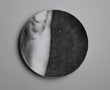 Piero Fornasetti (Italian, 1913-1988). <em>Plate, Eva</em>, ca. 1954. Glazed earthenware, 1 x 10 1/4 x 10 1/4 in. (2.5 x 26 x 26 cm). Brooklyn Museum, Gift of the Estate of Jane Adams Breed, 2005.37.11. Creative Commons-BY (Photo: Brooklyn Museum, 2005.37.11_PS2.jpg)